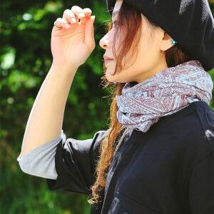 スカーフ ストール ロングストール 大判 バンダナ 総柄 バンダナ柄 レディース 女性用 薄手 夏 夏物 軽量 涼しい 軽い