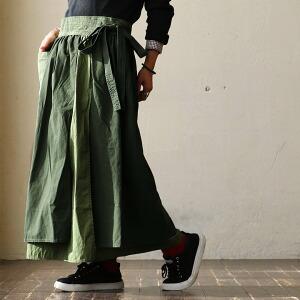 KIRIKAE WRAP SKIRT ラップスカート スカート ラップ ロング丈 リップストップ 布帛 リメイク レディース 女性用 秋 ロングスカート マキシスカート
