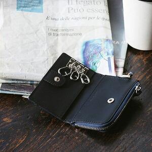 キーケース キーフック 3連 コインケース カードケース 牛革 型押し加工 耐久性 L字ジップ 使いやすい レディース メンズ プレゼント ギフト 贈り物 就職祝い