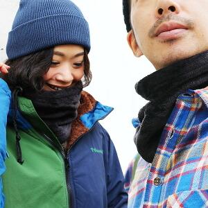 フランネル ネックウォーマー ボアフリース ボア フリース ふかふか 暖かい コード調整 スノーボード 登山 アウトドア レディース メンズ 秋 冬