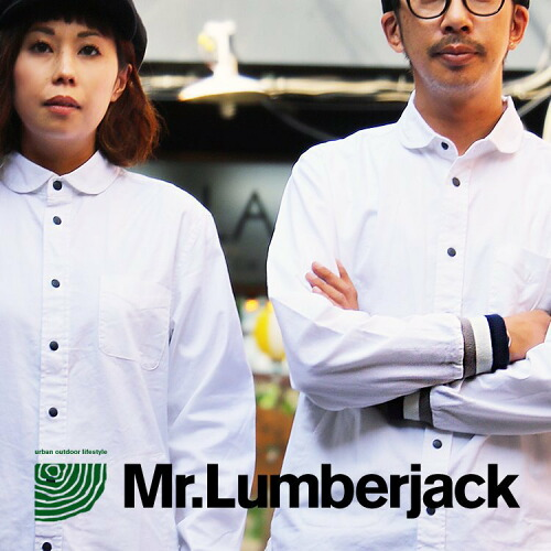 (ミスターランバージャック) Mr.Lumberjack シャツ ストレッチオックス 袖リブ ポケット