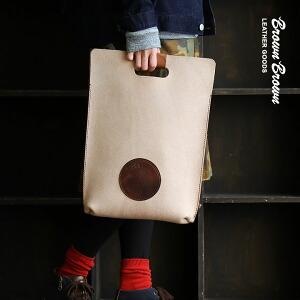 バッグ ハンドルバッグ A4サイズ 栃木レザー社製 牛革 スエード 「Mr.Brown エンボス」 日本製 メンズ レディース 鞄 かばん カバン 40代 50代