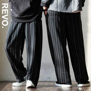 ワイドパンツ スラックス ストライプ パンツ ルーズ ストレッチ ポリエステル素材 ワイド タックパンツ レーヨン レディース メンズ 40代 50代