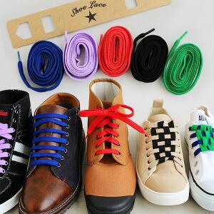カラー シューレース 靴紐 靴ひも シンプル 替え紐 カラフル アクリル 2本入り 一足分 レディース メンズ 40代 50代