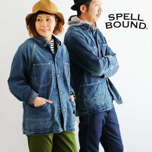カバーオール ジャケット デニム アウター デニムジャケット 日本製 国産 ワーク USED加工 レディース メンズ 40代 50代 Made in Japan