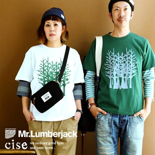 (ミスターランバージャック) Mr.Lumberjack Tシャツ 【cise 木】 プリント 綿100% ヘビーウェイト