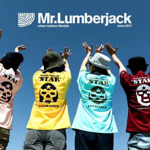 (ミスターランバージャック) Mr.Lumberjack 半袖 Tシャツ 綿100% ヘビーウェイト 丸胴 「マスクマン コマンド プリント」