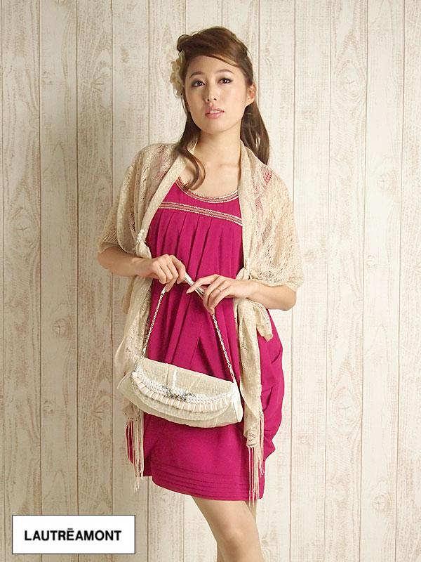 ロートレアモン(LAUTREAMONT) ドレス3点コーディネイトレンタル(ドレス\u0026バッグ\u0026ストール)
