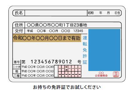 免許証番号などに使用されているOCRフォントの読み取り