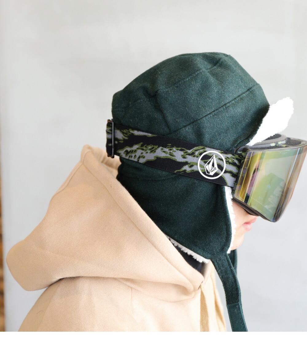 スノボワイヤー入り耳付きワークキャップイメージ