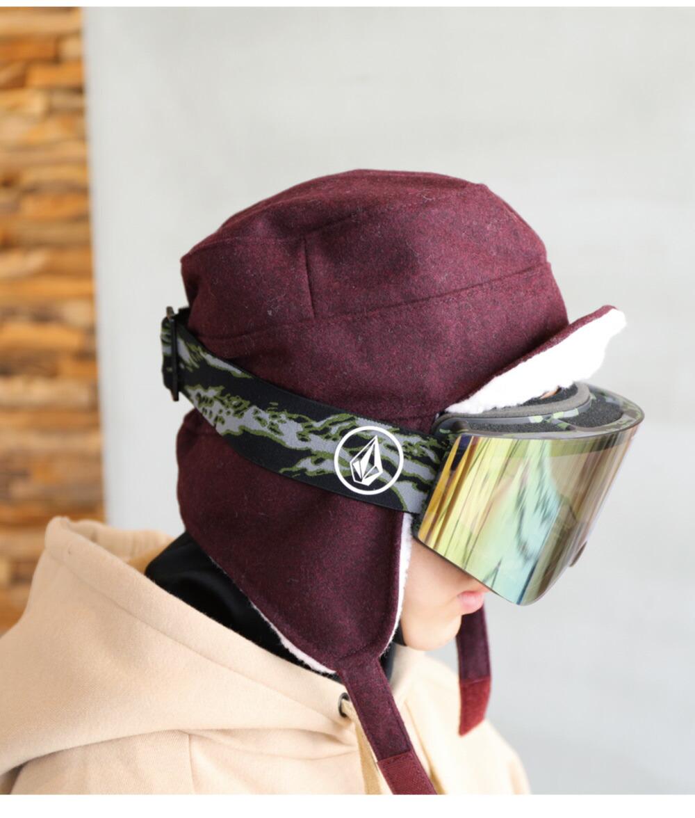 スノーボードワイヤー入り耳付きワークキャップイメージ