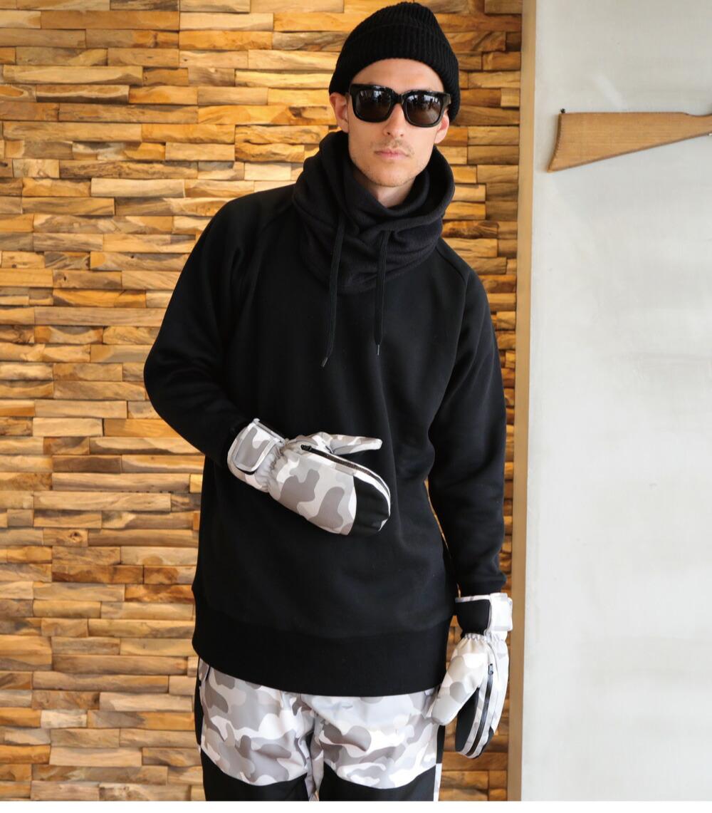 スノーボードミトングローブ、詳細ディテール