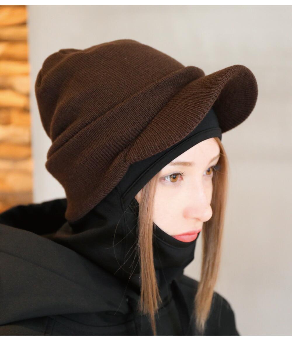 スノーボードツバ付きニット帽カラー詳細