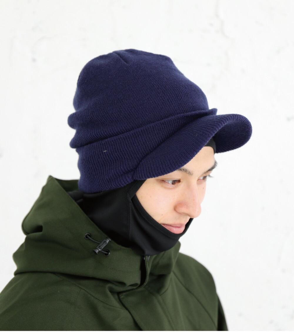 スノーボードツバ付きニット帽サイズ詳細