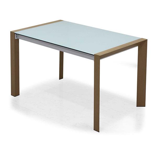 ガラステーブル ダイニングテーブル 幅128cm 奥行き80cm 高さ75cm テーブル単体