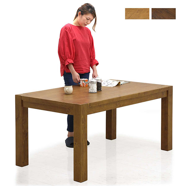 パイン無垢材を使用した幅150cmダイニングテーブル