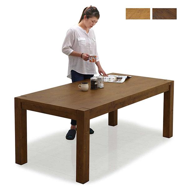 パイン無垢材を使用した幅180cmダイニングテーブル