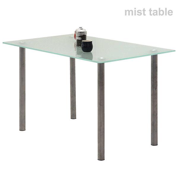 幅120cmのガラスダイニングテーブル