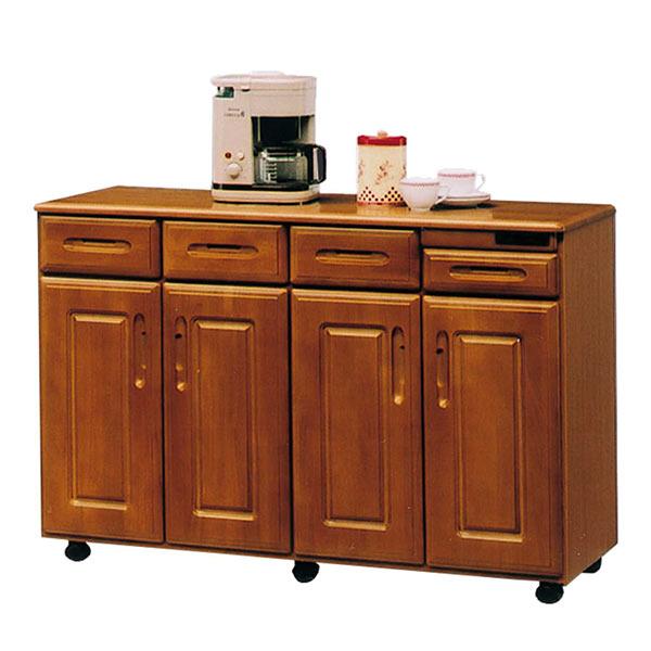 キャスター付き 国産 キッチンカウンター 間仕切り 収納 幅120cm