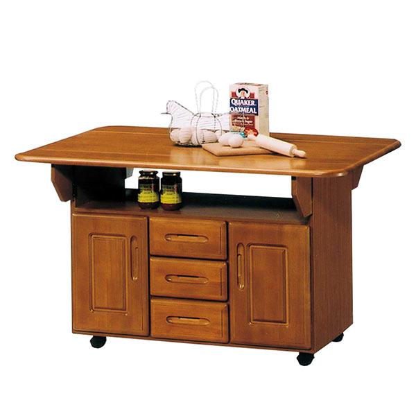 キャスター付き キッチンワゴン カウンター テーブル 伸長式