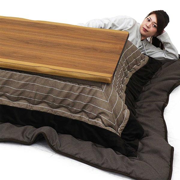 幅120cmこたつテーブルと掛布団の2点セット
