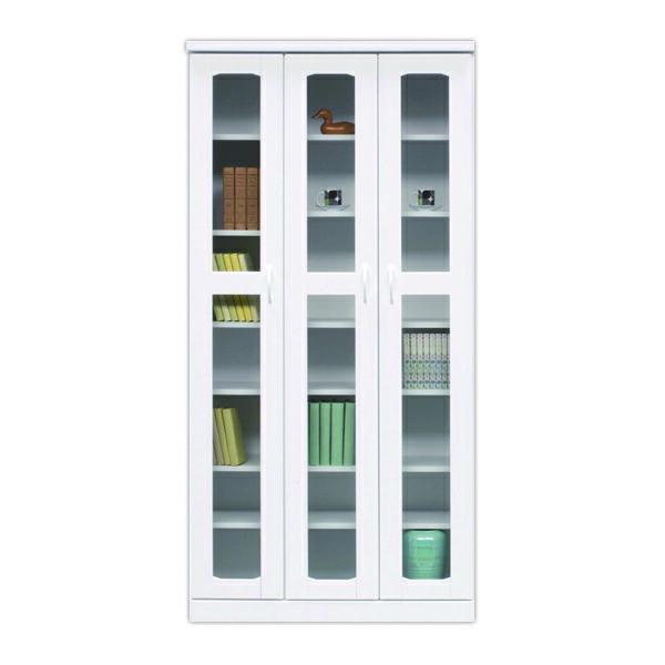 鏡面 幅90cm 本棚 書棚 高さ180cm