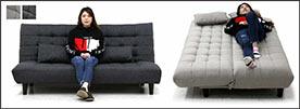 ソファベッド ソファ リクライニングソファ ライトグレー ダークグレー 選べる2色 幅180cm 3人掛け
