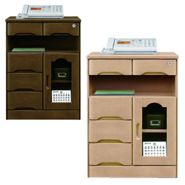 鍵付き ファックス台 電話台 幅60cm 完成品