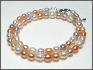 淡水真珠マルチカラーネックレス