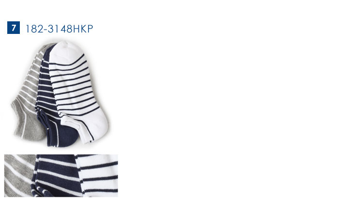 Healthknit/ヘルスニット スニーカーソックス 3Pソックス ショート 靴下/3足セット