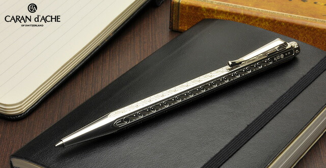 カランダッシュ ボールペン 限定復刻版 エクリドール JP0891-181 アンモナイト 925スターリングシルバー