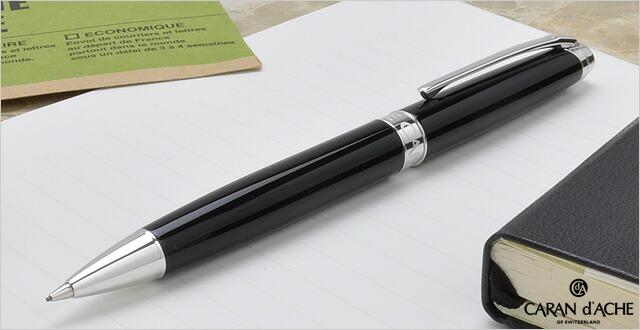 カランダッシュペンシル0.7mmレマンコレクションロジウムコートXN4769-782エボニーブラック