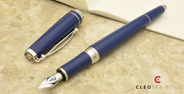 クレオ・スクリベント 万年筆 プラチナシリーズ ブルー