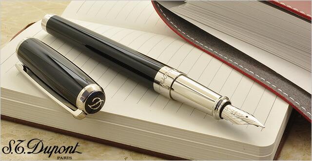 デュポン 万年筆 ラインD 410674 ブラックラッカー&パラディウム