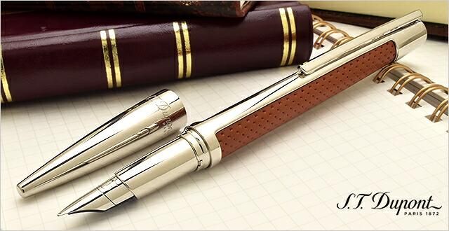 デュポン 万年筆 デフィ パンチング レザー キャメル 400676