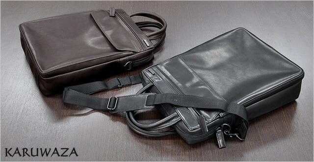 イケテイ KARUWAZA 鞄 ウイング ビジネスバッグ 18562-BLK ブラック タテ型