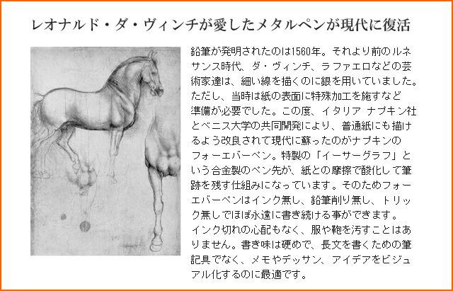 レオナルド・ダ・ヴィンチが愛したメタルペンが現代に復活