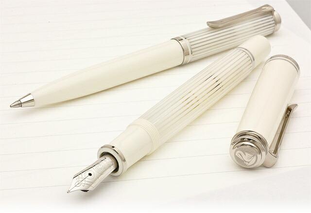 ペリカン 万年筆 特別生産品 スーベレーン605 M605 ホワイトストライプ
