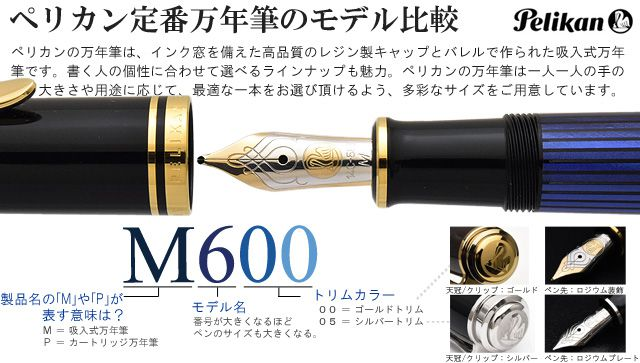 ペリカン定番万年筆のモデル比較 M800