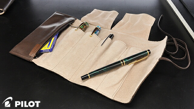Pilot Pensemble Pencil case PSRF5-01-DBN Zipper RollType 5 Dark brown