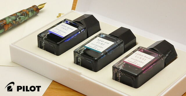 Pilot Fountain pen Bottle ink Iroshizuku mini 15ml 3color set