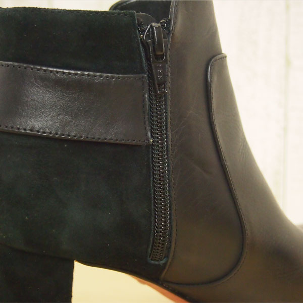 スエード切替ブーツ