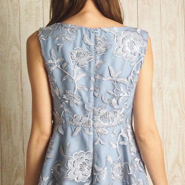 チュールラメ刺繍ワンピース