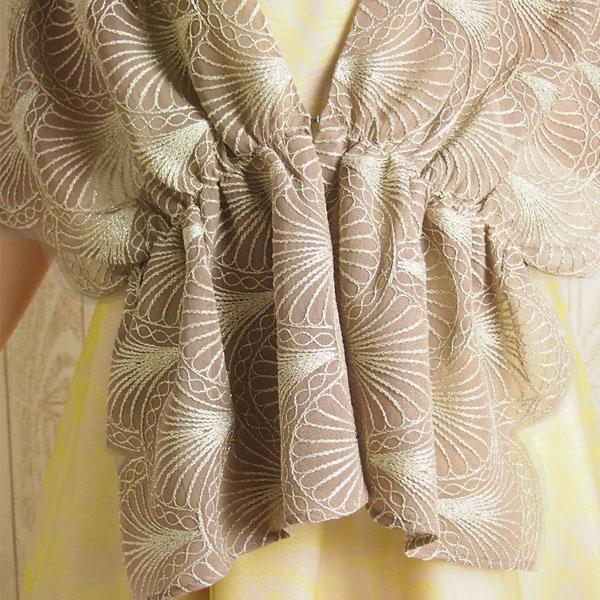 チュールラメ刺繍ストール