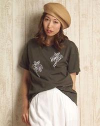 パーム刺繍Tシャツ
