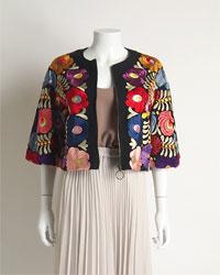 マルチ刺繍ジャケット