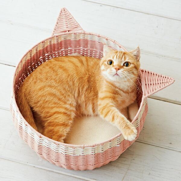 猫耳ラウンドバスケット