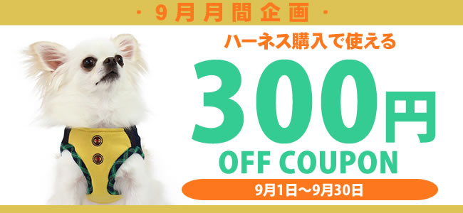 ハーネス300円クーポン