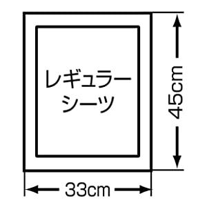 ペティオエアセレブアロマティックペットシーツレギュラーのサイズ