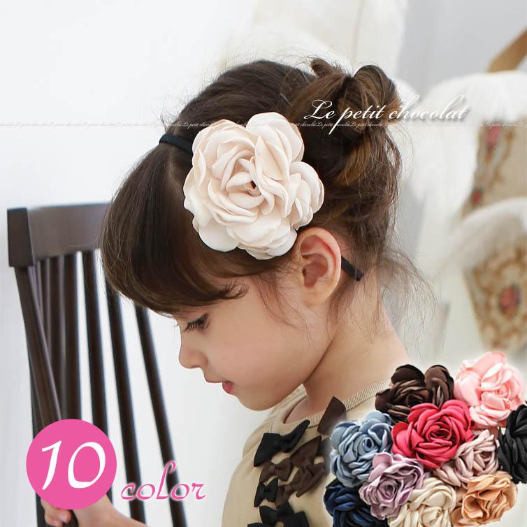カチューシャ ヘアアクセサリー 立体 フラワー 子供 女の子 キッズ 発表会 結婚式  花 がとっても かわいい ♪ フェミニン & 上品  | ベビー ジュニア ヘアー アクセサリー 雑貨 フォーマル 入…